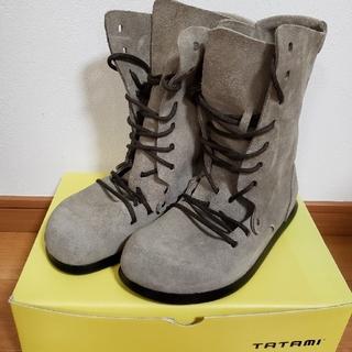 タタミ(TATAMI)のTATAMI leather taupe Azumino(ブーツ)