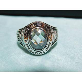 ドクターモンロー(Dr.MONROE)の新品未使用 ドクターモンロー カレッジリング ホワイトキュービック 15号(リング(指輪))