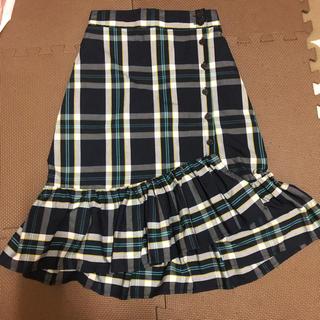 シマムラ(しまむら)のしまむら マーメイドスカート チェック付きスカート(ひざ丈スカート)