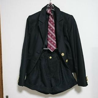 ヒロミチナカノ(HIROMICHI NAKANO)の入学式 卒業式 結婚式  女子 スーツ 150 黒  ネクタイ  ブラウス付  (ドレス/フォーマル)