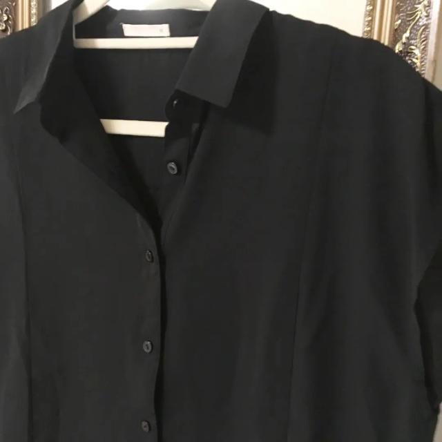 GU(ジーユー)のGU ノースリーブシャツブラウス★フレンチスリーブ/シフォン/トップス レディースのトップス(シャツ/ブラウス(半袖/袖なし))の商品写真