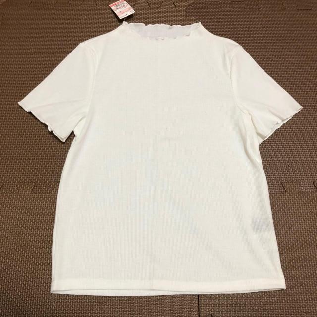 しまむら(シマムラ)のしまむら カットソー トップス 重ね着 ホワイト  レディースのトップス(カットソー(半袖/袖なし))の商品写真