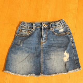 ザラ(ZARA)の116サイズ デニムスカート(スカート)