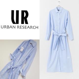 URBAN RESEARCH - 新品 アーバンリサーチ ロングシャツ シャツワンピース リボン付きマキシシャツ