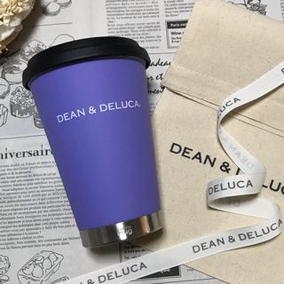 ディーンアンドデルーカ(DEAN & DELUCA)のラッピングset付き DEAN&DELUCA タンブラー パープル マグボトル(タンブラー)