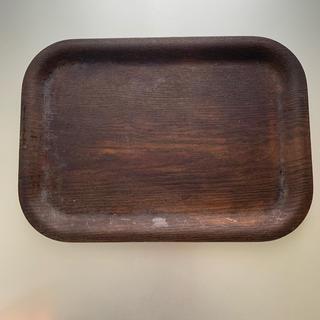 アクタス(ACTUS)の小トレー 木製 濃茶 アクタス(テーブル用品)