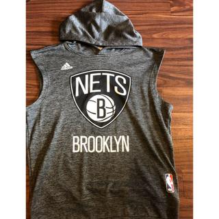 アディダス(adidas)のAdidas Brooklyn Nets ノースリーブパーカー(バスケットボール)
