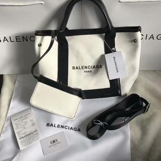 Balenciaga -  バレンシアガ ホワイト キャンバス トートバッグ