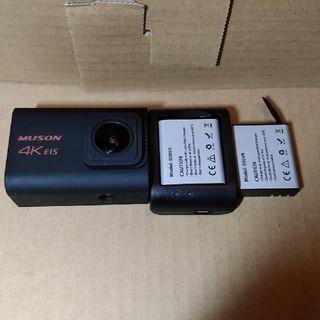 4Kアクションカメラ バッテリー2個付き(コンパクトデジタルカメラ)