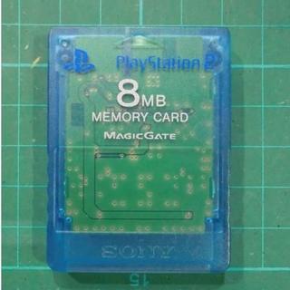 プレイステーション2(PlayStation2)の青 PS2メモリーカード 純正品 プレステ2用 メモカ(家庭用ゲーム本体)