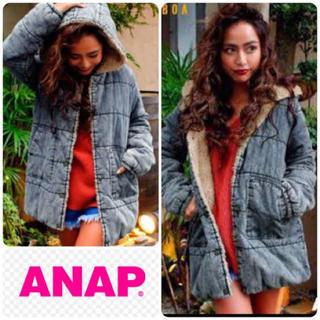 アナップ(ANAP)のANAP デニムボア中綿ジャケット(Gジャン/デニムジャケット)