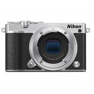 新品Nikon ミラーレス一眼 Nikon1 J5 ボディのみ シルバー(ミラーレス一眼)