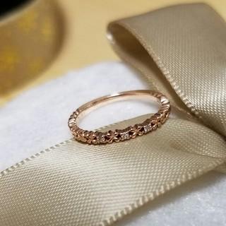 テイクアップ(TAKE-UP)のTAKE UP 指輪 ピンキー 3号 K10 PG ダイヤ(リング(指輪))