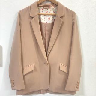 ジーユー(GU)のGU ジーユー テーラードジャケット ピンク Lサイズ(テーラードジャケット)