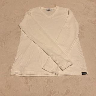 アズールバイマウジー(AZUL by moussy)の白ニット 春服(ニット/セーター)