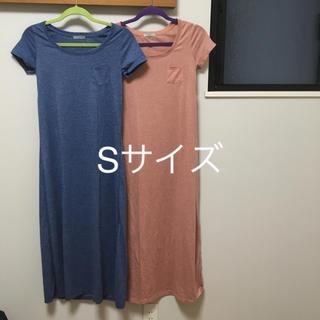 ジーユー(GU)のgu ロングワンピース Sサイズ(ロングワンピース/マキシワンピース)