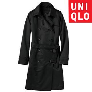 ユニクロ(UNIQLO)のUNIQLO トレンチコート ユニクロ 美品 ステンカラー バーバリー Lサイズ(トレンチコート)