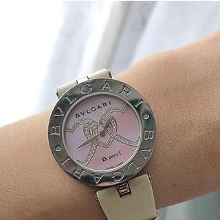 ブルガリ(BVLGARI)のブルガリ ビーゼロワン ピンクシェルハートモチーフダイヤモンドウォッチ(腕時計)