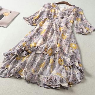 ドレス 長袖 春コーデ 快適 女性 通勤 LL0419076(ロングドレス)