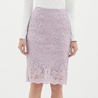 ジーユー(GU)のお値下げ GU レースタイトスカート(ひざ丈スカート)