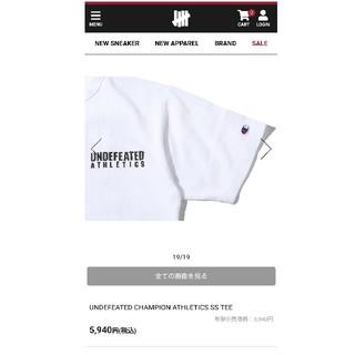 アンディフィーテッド(UNDEFEATED)の新品☆UNDEFEATED×CHAMPION Tシャツ   (Tシャツ/カットソー(半袖/袖なし))