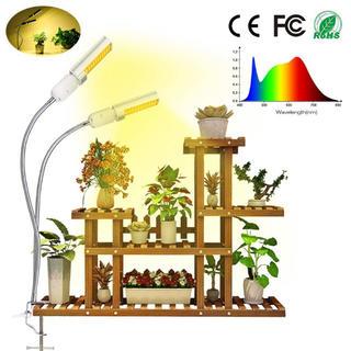 クランプ式 植物育成ライト 4段階調光 45W 360°角度調節でき 室内(その他)