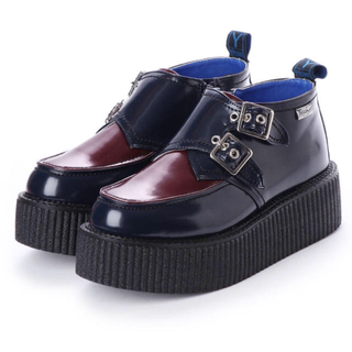 ヨースケ(YOSUKE)のYOSUKE / 厚底ラバーシューズ ネイビー パンプスフラットシューズ(ローファー/革靴)