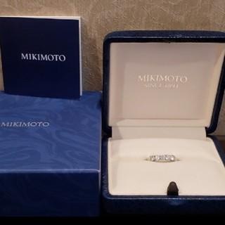ミキモト(MIKIMOTO)のMIKIMOTO ダイヤリング Ⓜ️0.54ct 950刻印 箱有(リング(指輪))