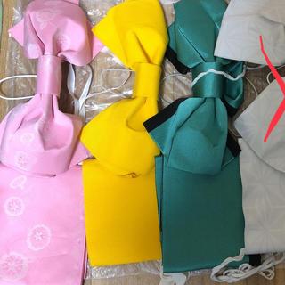 ゆうぽん様専用 黄色の浴衣帯(浴衣帯)