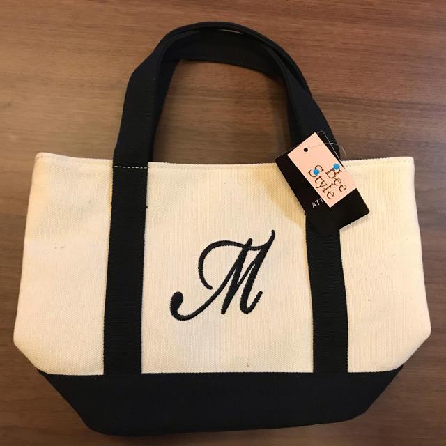 しまむら(シマムラ)のしまむら  ミニトートバッグ  イニシャル  人気品 レディースのバッグ(トートバッグ)の商品写真