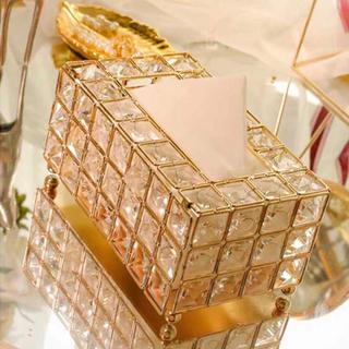 フランフラン(Francfranc)のティッシュボックス ティッシュケース ティッシュボックスケース ゴールド(ティッシュボックス)