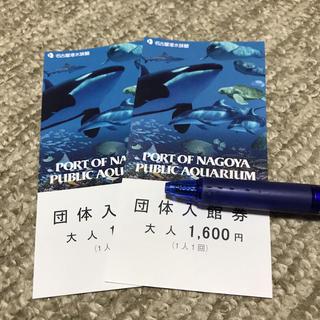 名古屋港水族館  大人2枚  入館券(水族館)