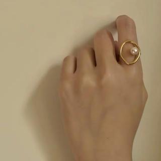タサキ(TASAKI)のパールリング ゴールド 調節可能(リング(指輪))