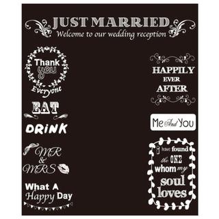 黒板風 フォトブース 結婚式 二次会 パーティ 高砂 アレンジ(ウェルカムボード)