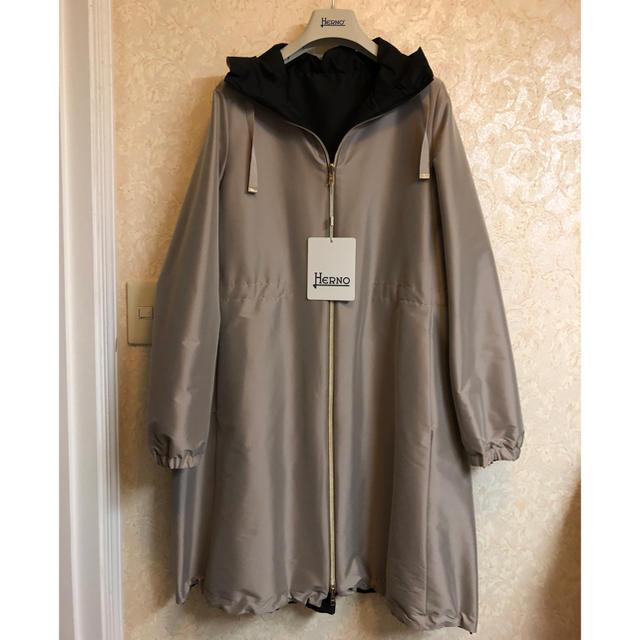 HERNO(ヘルノ)の◆新品◆HERNO へルノ リバーシブルモッズコート◆サイズ44 レディースのジャケット/アウター(モッズコート)の商品写真