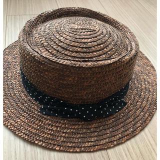 マウジー(moussy)のMOUSSY カンカン帽(麦わら帽子/ストローハット)