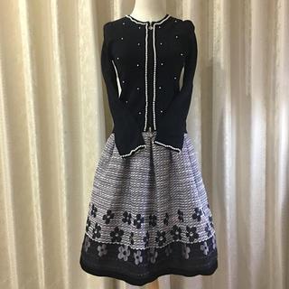 エムズグレイシー(M'S GRACY)のエムズグレイシー♡カタログ掲載♡ジャガードスカート♡ピンク♡38(ひざ丈スカート)