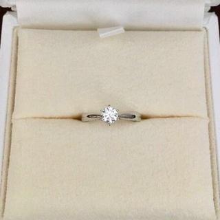 タサキ(TASAKI)のTASAKI 田崎真珠 ダイヤモンドリングPt950 0.27ct H VS-2(リング(指輪))