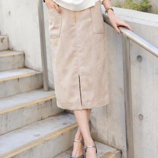 バビロン(BABYLONE)のスウェードパッチポケットタイトスカート 36(ひざ丈スカート)