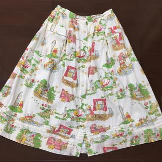 ジェーンマープル(JaneMarple)の♡ともっち様専用5/10まで♡ジェーンマープル ♡プーさんプリントスカート♡(ひざ丈スカート)