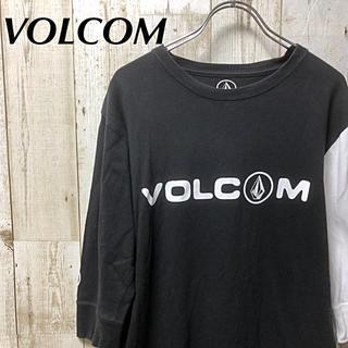 ボルコム(volcom)の【激レア】VOLCOM ボルコム ビックロゴ  5分袖 Tシャツ M(Tシャツ/カットソー(七分/長袖))