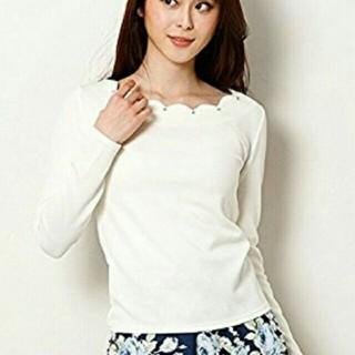 イング(INGNI)のスカラップオフショルロングTシャツ(カットソー(長袖/七分))