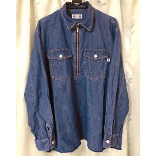 ジーユー(GU)のGU × STUDIO SEVEN ハーフアップジップシャツ デニムシャツ(シャツ)