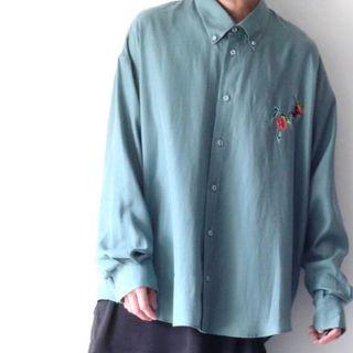 シセ(Sise)のSISE 19SS 完売品 ボタンダウン ビッグシャツ ミント(シャツ)
