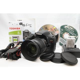 キヤノン(Canon)のCanon EOS kiss x4 純正レンズセット SDカード付き(デジタル一眼)