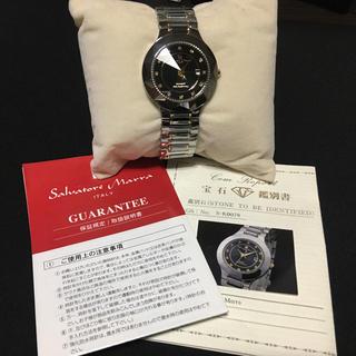 サルバトーレマーラ(Salvatore Marra)の未使用品 サルバトーレマーラ 腕時計 ダイヤモンド タングステン(腕時計(アナログ))