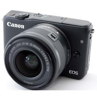 キヤノン(Canon)の❤️自撮り&WiFi搭載❤️キヤノン EOS M10 大人気!定番のブラック❤️(ミラーレス一眼)
