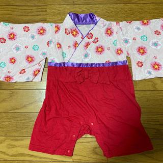 袴ロンパース 女の子(和服/着物)