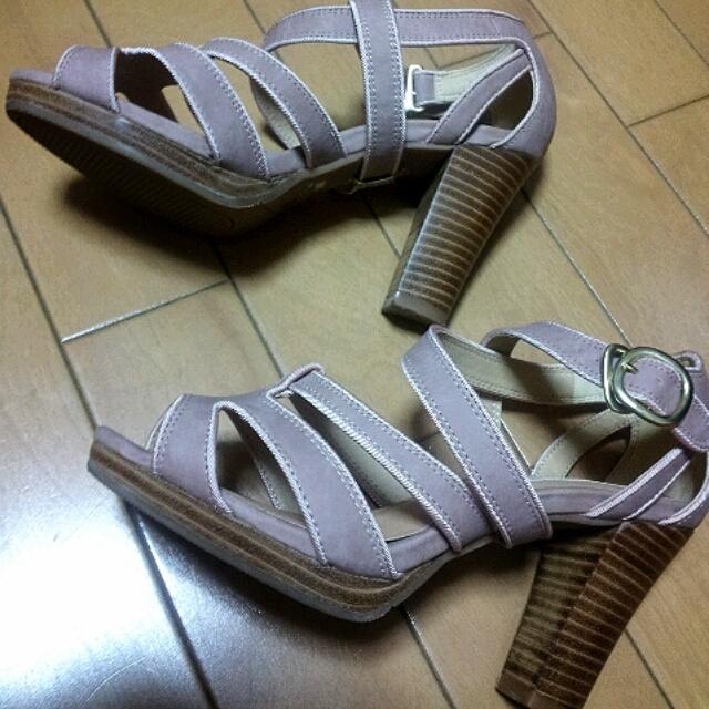 LABORATORY WORK(ラボラトリーワーク)の今期もの☆ピンクベージュサンダル レディースの靴/シューズ(サンダル)の商品写真