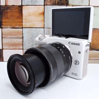 キヤノン(Canon)の【美品】Canon EOS Kiss M3 ホワイト(ミラーレス一眼)
